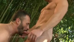Hung straight gardner fucks gay jock in garden