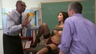Preview 3 of Slutty Teacher Anal Cuckold for Big Tits MILF