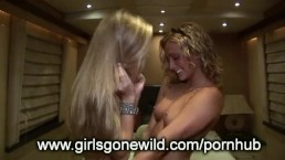 2 Cute Amateur College Girls Get Naked and Suck Tits for Girls Gone Wil