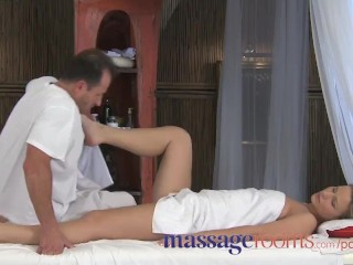 Preview 1 of Massage Rooms Powerful g-spot orgasm for her little pussy