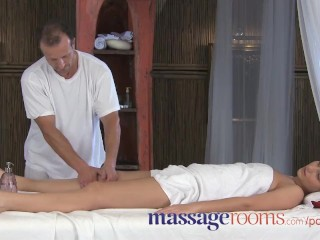 Preview 2 of Massage Rooms Powerful g-spot orgasm for her little pussy