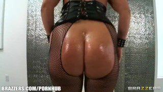 Preview 1 of Big-booty blonde in fishnets loves being fucked hard in her ass