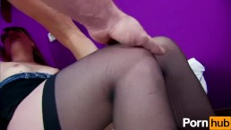 French girl gets pussy and ass gaped hardcore