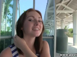 Preview 1 of POVLife Pale redhead pick up teen facialized