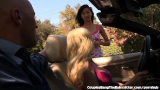 Preview 2 of Sweet Teen Babysitter Seduced By Swinger Couple