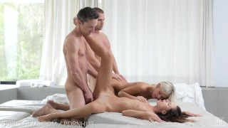 Preview 2 of Nubile Films - Gina licking jizz off of Didos perfect ass