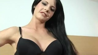 Preview 1 of Hungaria beauty Aliz fills her pussy with a huge dildo