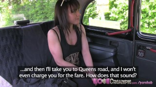 Preview 5 of LoveCreampie Naughty brit gives taxi man rimming before he cums inside her