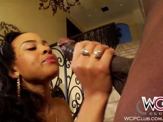 Preview 6 of WCPClub Ebony Busty and Juicy Booty Babe fucked by BBC