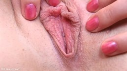 PJGIRLS Chrissy Fox spreading her pink pussy revealing clit and pee hole