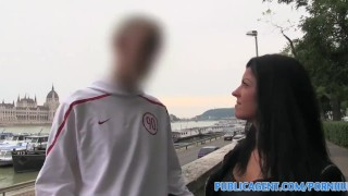 Preview 3 of PublicAgent Beautiful brunette fucked in hotel as her bf waits outside