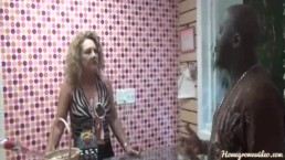 Lucky Customer Fucked By Two Hot Milfs