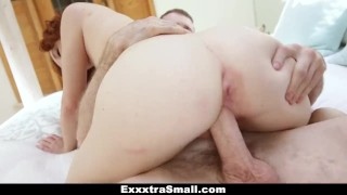 Preview 4 of ExxxtraSmall - Petite Redhead Alice Green's Pussy Pounding!