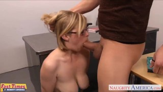 Preview 6 of Blondie in glasses Penny Pax gets fucked in the office