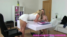 FemaleAgent. Beautiful bisexual blonde seduces the horny agent