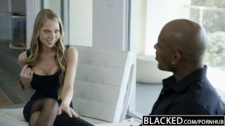 Preview 2 of BLACKED Petite Blonde Screams On Huge Black Dick