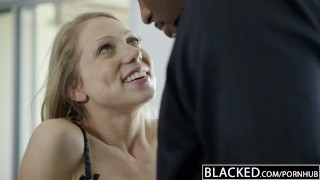 Preview 5 of BLACKED Petite Blonde Screams On Huge Black Dick