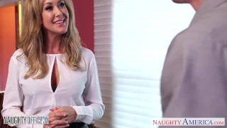 Preview 1 of Stockinged office babe Brandi Love gets nailed