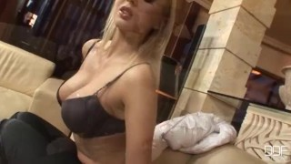 Preview 1 of Blonde Russian party girl takes Monster cock in her ass