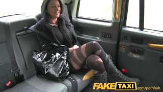 Preview 1 of FakeTaxi Local escort fucks taxi man on her way to a client