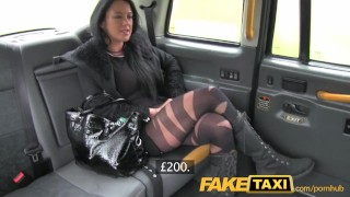 Preview 3 of FakeTaxi Local escort fucks taxi man on her way to a client