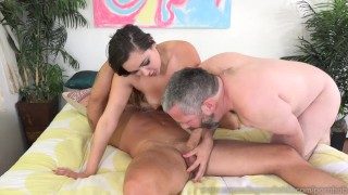 Preview 4 of Pathetic Husband Watches Zoey Foxx Sucking Dick And Getting Fucked