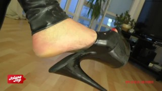 Preview 5 of Instruction to jerk on JolyneJoy's high heels