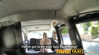 Preview 3 of FakeTaxi Cabby tries his beginners luck on hot blonde with big tits