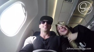 SinsLife - Crazy Couple Public Sex Blow Job on an Airplane!