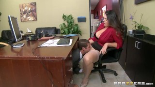 Preview 2 of Alison Tyler has a little office fun  - Brazzers