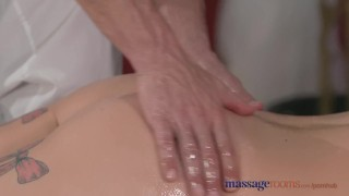 Preview 2 of Massage Rooms Horny model has her perfect 10 body oiled and fucked