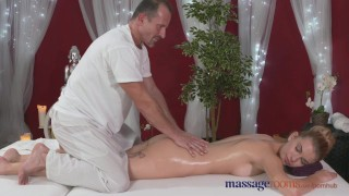 Preview 3 of Massage Rooms Horny model has her perfect 10 body oiled and fucked