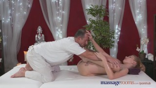 Preview 6 of Massage Rooms Horny model has her perfect 10 body oiled and fucked
