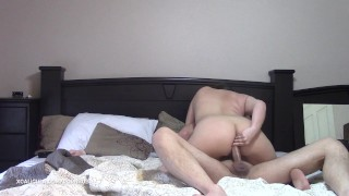 Preview 1 of Unplanned morning anal creampie and double penetration