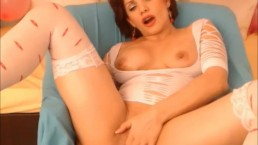 Milf has intense orgasms with toys in both holes