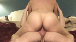 Hot bodied milf rides dick till its dained....
