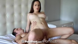 PornPros - Busty brunette Ashley Adams rides her mans dick