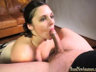 Preview 5 of Teen in casting interview fucked and swallows at Brandnewamateurs