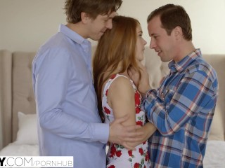 Preview 3 of TUSHY First Double Penetration For Redhead Kimberly Brix