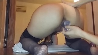 Preview 3 of Fucking my anal slut showing her gaping asshole with a cumshot finish