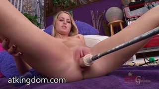 Preview 5 of Scarlett Sage trying the fuck machine