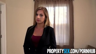 Preview 1 of PropertySex - Wicked fine real estate agent bones her new sugar daddy