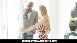 Preview 1 of TeensLoveBlackCocks - Hot Blonde uses Her Tight Pussy To Pay The Bills