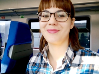 Preview 6 of Public deep Blowjob in the train!