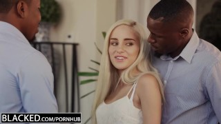 Preview 4 of BLACKED First Interracial Threesome For Blonde Naomi Woods
