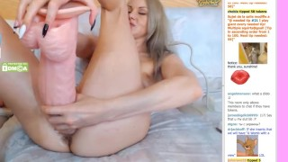Preview 3 of MoonChristine put a HUGE dildo inside her pussy