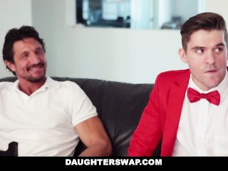 Preview 4 of Daughter Swap - Fathers Trade Virgin Daughters on Prom Night