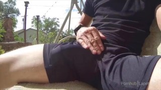 Preview 4 of Cumshot in athletic shorts