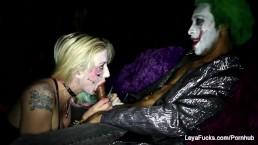 Harley Quinn Leya takes the Joker's BBC