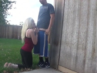 Preview 2 of back yard blowjob - OurDirtyLilSecret